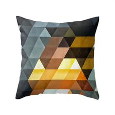 The Desert Pattern Pillow plays with shapes and colors for an intriguing look. Made of 100 percent polyester poplin, each double-sided pillow has been individually cut and sewn by hand. A concealed zip...  Find the Desert Pattern Pillow, as seen in the Bedroom Refresh Sale: Bedding Collection at http://dotandbo.com/collections/january-bedding-sale-bedding?utm_source=pinterest&utm_medium=organic&db_sku=MBW0078