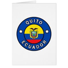 Quito Ecuador Card  $3.15  by KellyMagovern  - custom gift idea