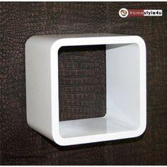 Homestyle4u Retro Cube Design Wandregal Wandboard Regal Würfel 1er weiß: Amazon.de: Küche & Haushalt