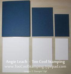 "Whisper White  2"" x 3-1/4"", 3"" x 4-1/4"", 4"" x 5-1/4""  Card Base & Frames  2-1/4"" x 3-1/2"", 3-1/4"" x 4-1/2""  5-1/2"" x 8-1/2"" folded in half for card base"