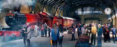 Hogwarts Express on Platform nine and three quarters