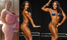 Motivational Figure Competition Pics | From 225 pounds pregnant to 125 pounds physique competitor!