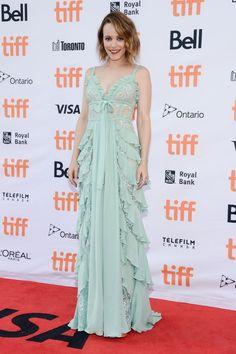 Elie Saab  Collection Tapis Rouge  : L'actrice Rachel McAdams dans ELIE SAAB Resort 2018 au & # 39; Disobedience & # 39; pr