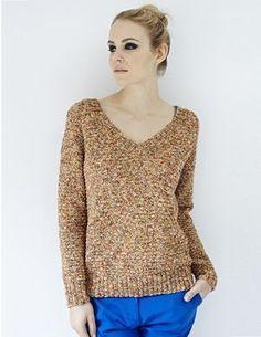 V Neck Sweater | Debbie Bliss - Designer Yarns, Patterns, Books, and More