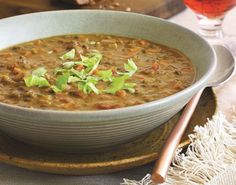 French Lentil Soup -- so simple, so few ingredients, and this soup gets rave reviews on Epicurious.com. Ideal for Phase 3, I-Burn, and D-Burn -- and make this without oil for Phase 1, too.