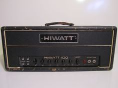 Vintage 1969 Hiwatt DR103 100 Watt Custom Tube Guitar N Bass Amp Amplifier Head