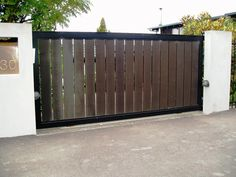Single Swing Contemporary Driveway Gates — All in One Home Ideas