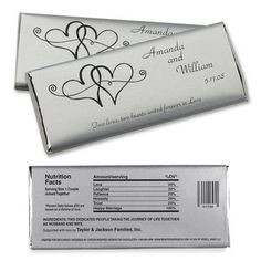 Free Hershey Candy Bar Wrers Twin Hearts Large Hersheys Chocolate Wedding Favors By Penny