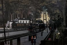 poboh: Station in the Forest, 1960, Paul Delvaux. Belgian (1897 - 1994)