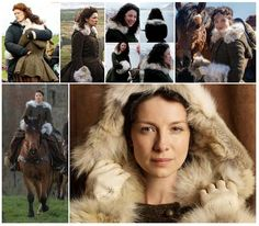 Claire's fur-trimmed coat montage | Outlander S1on Starz | Costume Designer TERRY DRESBACH www.terrydresbach.com