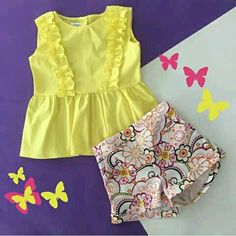 New Sewing Clothes Kids Children Little Girls 23 Ideas Baby Dress Design, Baby Girl Dress Patterns, Cute Girl Outfits, Little Girl Dresses, Kids Outfits, Girls Dresses, Little Girl Fashion, Kids Fashion, Baby Frocks Designs