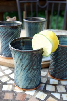Slate Blue Half Pints- Set of Four- Made to Order