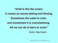 Grief is a solitary journey. No one but you knows how great the hurt is. No one but you can know the gaping hole left in your life when someone you know has died. And no one but you can mourn the silence that was once filled with laughter and song. It is the nature of love and death to touch every person in a totally unique way