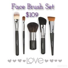 Face Brush Set, such great brushes for every type of face makeup, powder, liquid, BB cream etc. #younique #makeupbrushes #beauty #makeup #youniquemakeup #beautyvlogger #youtube #snapchat #youtubevlogger #naturallybased #mineralbased #crueltyfree