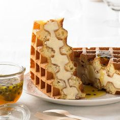 Lemon Ricotta Cheesecake Waffle This recipe uses the Breville Smart Waffle, making crispy golden waffles without the mess! - Collect this Lemon Ricotta Cheesecake Waffle recipe by Breville. Beaux Desserts, Just Desserts, Delicious Desserts, Dessert Recipes, Yummy Food, Crepe Recipes, Waffle Desserts, Dessert Diet, Cheesecake Recipes
