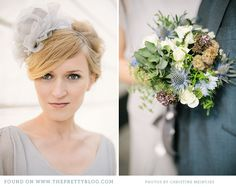 Dusty blue & green bouquet | Photo: @Christine Meintjes, Styling: @b.loved