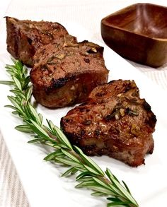 Grilled lamb chops a simple marinade and a hot grill and you've got perfect flavorful chops. Bbq Lamb Chops, Lamb Chops Marinade, Grilled Lamb Chops, Grilled Meat, Rosemary Lamb Chops, Cooking Lamb Chops, Smoked Pork Chops, Barbecue Recipes, Grilling Recipes