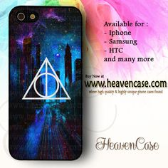 Deathly Hallows Dark City Blue available For Iphone 4/4s/5/5s/5c case , Samsung Galaxy S3/S4/S5/S3 mini/S4 Mini/Note 2/Note 3 case , HTC One X , HTC One M7 case , HTC One M8 case and many more , check our website www.heavencase.com