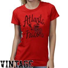 Atlanta Falcons Womens Kick Off Premium T-Shirt Red  fanatics Nfl Store 2091035b7