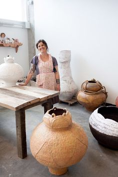 "Candice Methe strives to highlight the tie between beauty and utility that creates a deep emotional bond with the everyday user. She infuses the work with her touch combined with the spontaneous phenomena of clay, giving each piece the allure of a grand history hidden by ceramic process.  Methe: ""For me, nature is alluring, personal space is sacred, and there is a gravitation towards the momentum in the creative process. There is appreciation in labor coupled with uncertainty."""