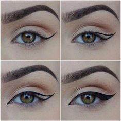 #HowToCleanMakeupBrushes Khol Eyeliner, Eyeliner Hacks, Eyeliner Styles, No Eyeliner Makeup, Eyeliner Liquid, Liquid Liner, Eyeliner Pencil, Eyeliner Ideas, Cat Makeup