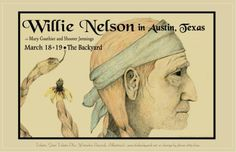 Willie Nelson in ATX - vintage