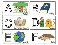 Free Bible ABC Printables - Free Alphabet Card printables to help children learn their ABC's!  Print on cardstock or laminate for durability.  Children can play matching games with Upper and Lowercase letters as well as put them in the correct order.