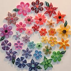 Paper Quilling..could do a peace sign like this