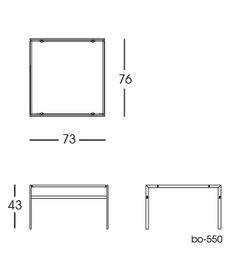 bo-550 Table 2D | Fabricius & Kastholm for bo-ex furniture. http://www.bo-ex.dk/project/bo-550/