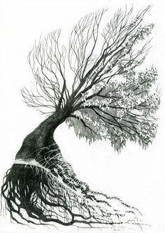 Superb Tree Of Life Tattoo Stencil