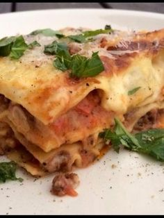 Paras koti-lasagne for ever Gnocchi, Feta, Risotto, Curry, Chicken, Ethnic Recipes, Croque Monsieur, Lasagna, Food Food