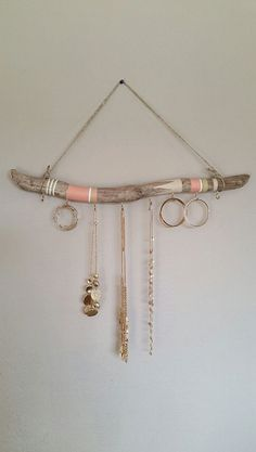 Driftwood Jewelry Organizer Hanging Jewelry Display Aztec Necklace Holder Wall Jewelry Display Bohemian Jewelry Holder Custom Order by NWUrbanCottage on Etsy - June 29 2019 at Driftwood Jewelry, Driftwood Crafts, Hanging Jewelry Organizer, Jewelry Organization, Diy Organisation, Ring Organizer, Organiser Box, Storage Organization, Jewellery Storage