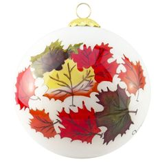 'Cluster Leaves' Glass Ornament