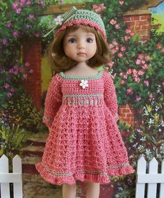 "Comfy Cozy Coral for 13"" Dianna Effner Studio's Little Darlings Dolls"