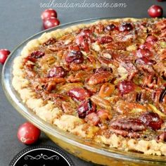 Cranberry Pecan Pie Recipe (a pie where the last piece is fought over)