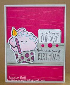 CTMH Sweet Birthday stamp and Thin Cut dies on Nancy's CRAFTY blog