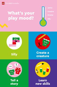 No matter your mood, there are fun ways to play with your kids and help them build vital skills to #RebuildTheWorld with confidence. Discover more ways to play.