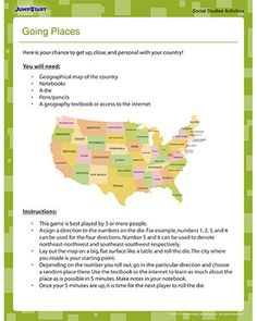 Perception and protection of places: A fun and engaging way to teach your kids about the length and breadth of a country by designing a board game of your country. The aim of the game is to learn as much as possible in 5 minutes about a place that you have landed on. This particular game is of an American map, but you could use this as template to create one of Australia. GE2-1, GE2-3, GE2-4.