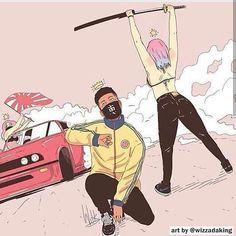 "Quote(s) ""Nigga. Dope Cartoon Art, Dope Cartoons, Arte Do Hip Hop, Hip Hop Art, Photographie Street Art, Character Art, Character Design, Arte Black, Black Anime Characters"