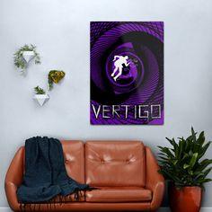 Vertigo Poster Metal Print by Scar Design.  #AlfredHitchcock #VertigoMovie #Hitchcock #hitchcockmovies #homedecor #wallart #art #metalprints #redbubble Vertigo Poster, Vertigo Movie, Minimalist Graphic Design, Movie Gift, Alternative Movie Posters, Alfred Hitchcock, Sell Your Art, Art Photography, Wall Art
