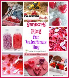 Sensory Play for Valentine's Day has a list of over 10 awesome activities for your little love for Valentine's Day week.