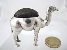 Excellent silver camel pin cushion, ADIE & LOVEKIN Birmingham 1907