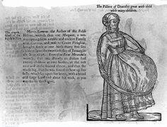 """Woman pregnant with nine or eleven babies, described by Ambroise Pare after Francesco Pico della Mirandola."""""""