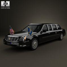 Cadillac Dts Limousine 3D Max - 3D Model
