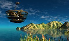 Wheres Dim Sum? #108 - Steampunk hovercraft by Opal Lei, via Flickr