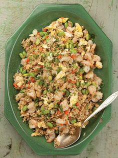 Shrimp Fried Rice:    It's the perfect dish for when you have a lot of odds and ends in your fridge.  Get the recipe here.