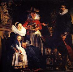 The Artist's Family - Jacob Jordaens