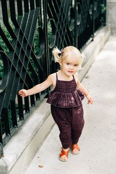 """Eggplant"" Pigtail set by Free Babes Handmade. The perfect accessory for your little free spirit's adventerous style. Photo by Mari Spiker."