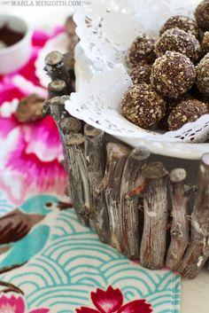 Skinny Dark Chocolate Trail Mix Truffles | @Marla Landreth Meridith