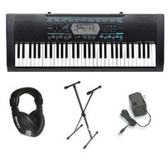 $126.18 Casio CTK-2100 61-Key Portable Keyboard Package with Headphones, Stand & Power Supply